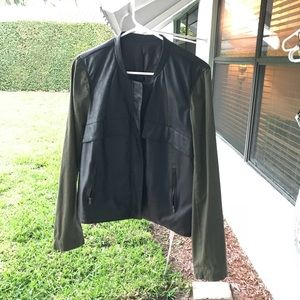 Pleather and cotton